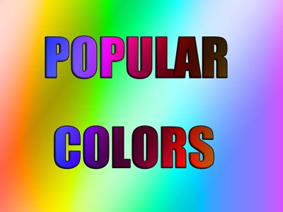Popular color schemes