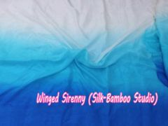 white-turquoise-blue silk fabric by yard