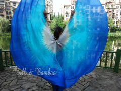 1 pair Royalty 6 Mommes habotai belly dance silk wing