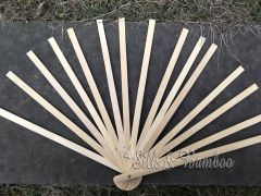 1 piece bamboo fan base/stave, 4 sizes