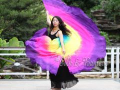 1 pair Lissome 8 Mommes habotai belly dance silk wing