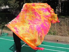 1 piece Sakura tie-dye 5 Mommes belly dance silk veil